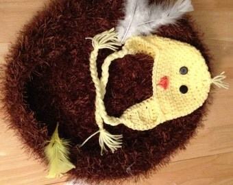 Bird nest & hat photo prop