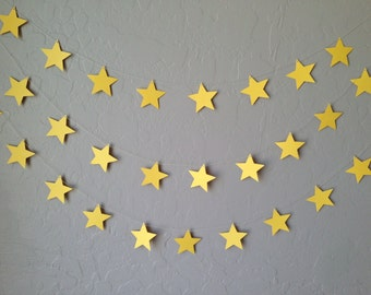 Yellow Star Garland/Banner, Party Garland, Party Banner Twinkle Twinkle Little Star, Wedding Garland