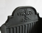 Cast Iron English Coal Basket. Fireplace Grate. Box. 1880. Victorian - owlsongvintage