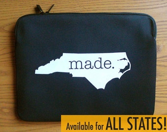 All States 'Made' Neoprene Laptop Sleeve 13 or 15 inches