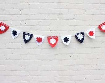 Crochet bunting, birthday bunting, wedding bunting
