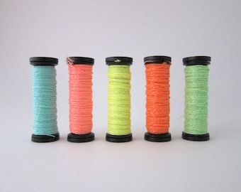 Glow in the Dark Thread | Hand Embroidery Floss in Bright Neon Colors, Embroidery Thread Set