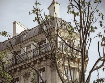 Paris Apartment Photo - Paris Balcony - Paris Photography - Paris Apartments - France, Vintage, White