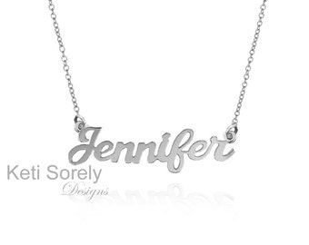 White, Yellow or Rose Gold Personalized Name Necklace - Customize it With Your Name - Hand Made Jewelry