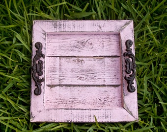 Decorative / Serving Tray - Pink Distressed