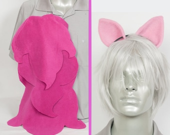Pinkie Pie Adjustable Ears and/or Tail - buy as a set or separate! Costume sized for Kids or Adults