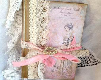 Wedding Guest Book - Jane Austin Theme vintage style