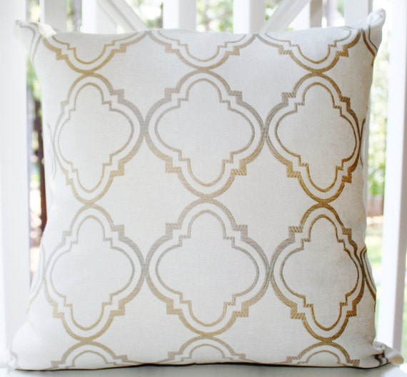 Silver And Gold Throw Pillows