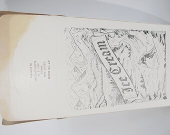 Vintage Ice Cream Container: Cardboard Quart 1930s Great Graphics