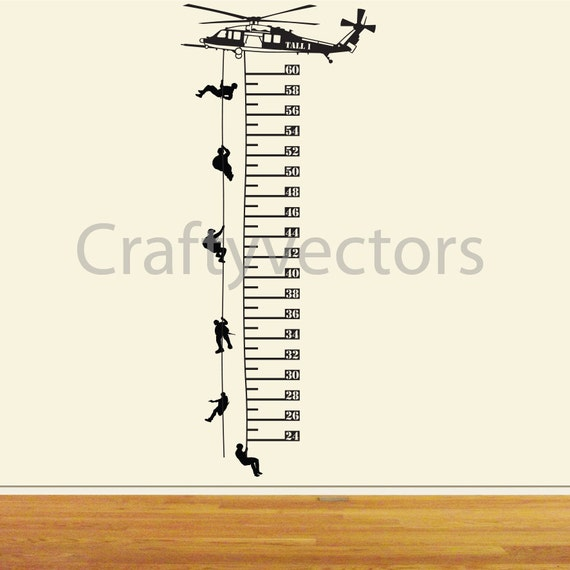 Helicopter Growth Chart Vector Template Svg