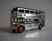 Vintage Toy Bus - Silver London Double Decker Routemaster by Lone Star Toys, 1977 Jubilee