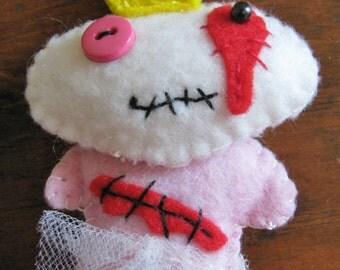 Zombie Princess pin/hanging you choose