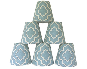 Chandelier Shade Sconce Clip-On Lamp Shade Lampshade Mill Creek Donetta Cascade Made to Order