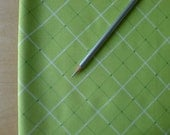 Hand Picked  Plaid Lime 1/4 Yard - Jacqueline Savage Mcfee - Modern Quilting Sewing Craft Cotton Fabric
