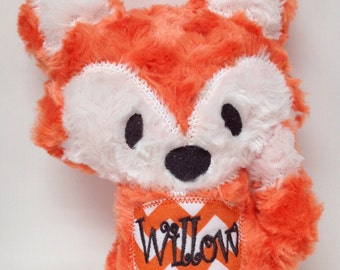 Personalized Stuffed Fluffy Plush Woodland Fox
