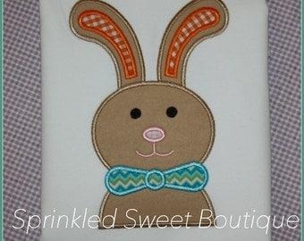 Easter Bunny Bowtie Applique Shirt