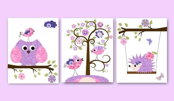Eule decor owl kindergarten baby kinderzimmer decor baby - Kunstdruck kinderzimmer ...