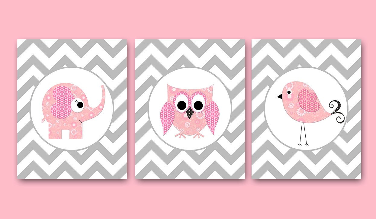 Owl decor owl wall art baby girl nursery decor children art for Baby owl decoration