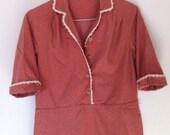 RESERVED for lemonlee - Floral Cotton Farm Dress