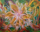 Abstract Acrylic Painting on Canvas Board Original Artwork. Free Shipping in the U.S.