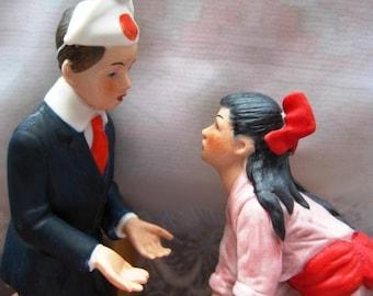 1980 Norman Rockwell Danbury Mint Porcelain Figurine First Dance MINT