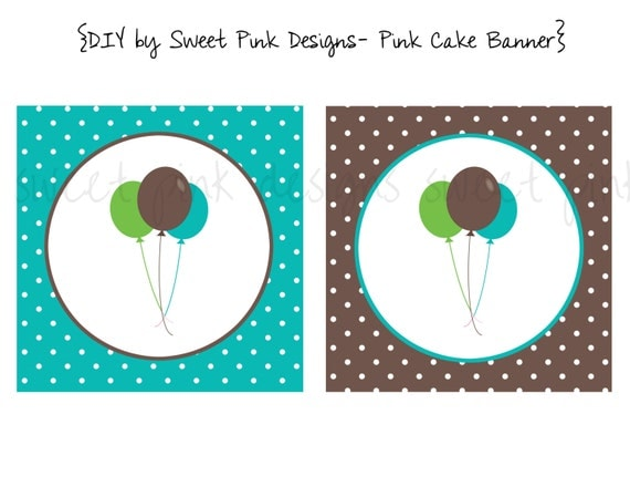 Happy Birthday Banner- Blue Cake Collection