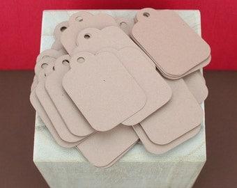 50 Mini Kraft Tags / Wedding Tag / Gift Tags / Merchandise Tags / Product Tag / Label - 1.25x1.75