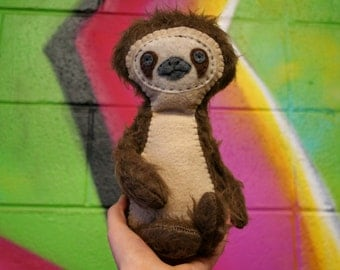 baby sloth: hand made/made to order