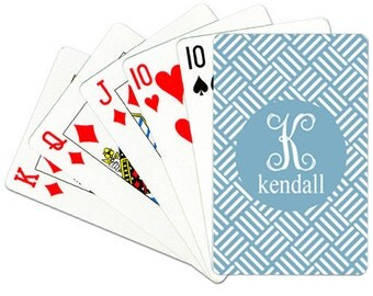 Personalized Playing Cards Monogrammed Deck of Cards Poker Accessories Custom Playing Cards