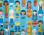 CHILDREN of the WORLD II minky blanket / small baby cuddle quilt / toddler security blankie / lovey... ready to ship… 17 by 17 inches