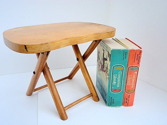 Vintage Folding Stool Nevco Wooden Footstool Photo By