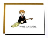 Ron Weasley Valentine, Funny, Geeky Valentine's Day card, Harry Potter