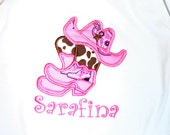 Ari's Angels Personalized Cowgirl Shirt Embroidered, Appliqued, Monogrammed