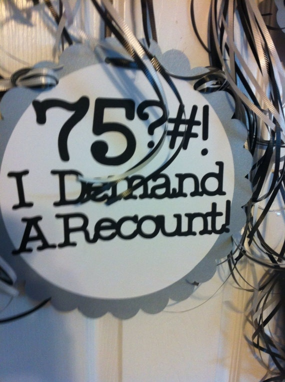 Items Similar To 75th Birthday Decorations Personalized