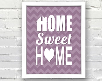 Home Sweet Home - Custom Typographical Poster - 8x10
