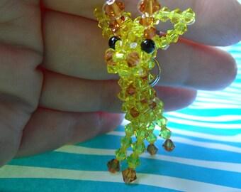 Citrine Giraffe - Swarovski Crystal Keychain