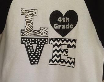 3/4 baseball style T-shirt for Teachers