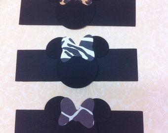Safari Minnie napkin wraps