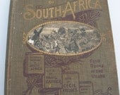Antique Book from 1899 The Library of South Africa  Four Books in One Volume and a Map