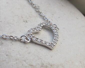 Heart Necklace- Heart Jewelry- Heart Shaped Necklace- Stone Necklace- Gemstone Necklace- Crystal Necklace- Crystal Heart Bracelet
