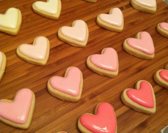 Mini heart cookies/cupcake toppers