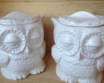 Owl canister tea bag holder