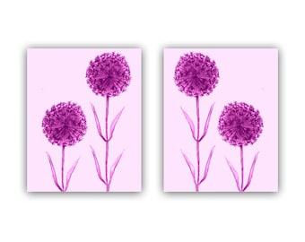 Flowers Dandelion Art, Girl Nursery Decor, Wall Art for Girls, Kids Decor, Set of 2 Prints, Nursery Wall Art, Kids Wall Art, Nursery Decor