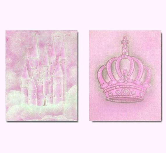 Baby Crown Wall Decor : Baby princess theme nursery decor wall art set of
