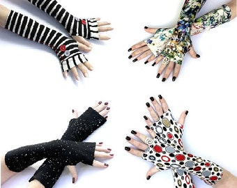 SALE  -  Any 3 Pair Gloves and scarves Only 45 Dollars  Free Shipping - Arm Warmers  scarf fingerless gloves  cuff  gift gloves schal shawl