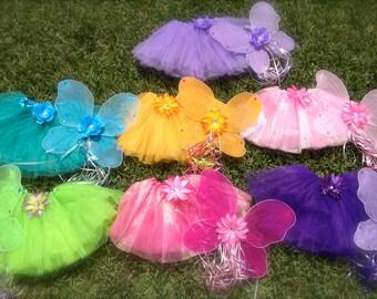 Fairy Wings, Fairy Tutu, Fairy party Favors, Fairy Costume, Princess Tutu, Tinkerbell Tutu, Tinkerbell Costume, Princess Costume
