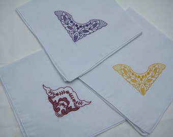 Brand New embroidered lady's handkerchiefs