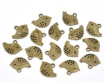 10 pieces Antique Bronze Bird Charms