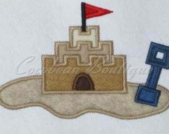 embroidery applique Sand Castle