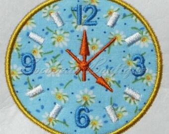 embroidery applique Clock 2
